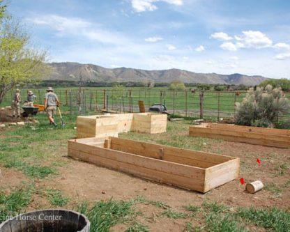 garden construction under way